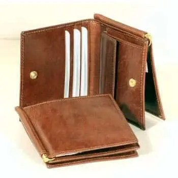 Front Leder Brieftasche Dreiteilig