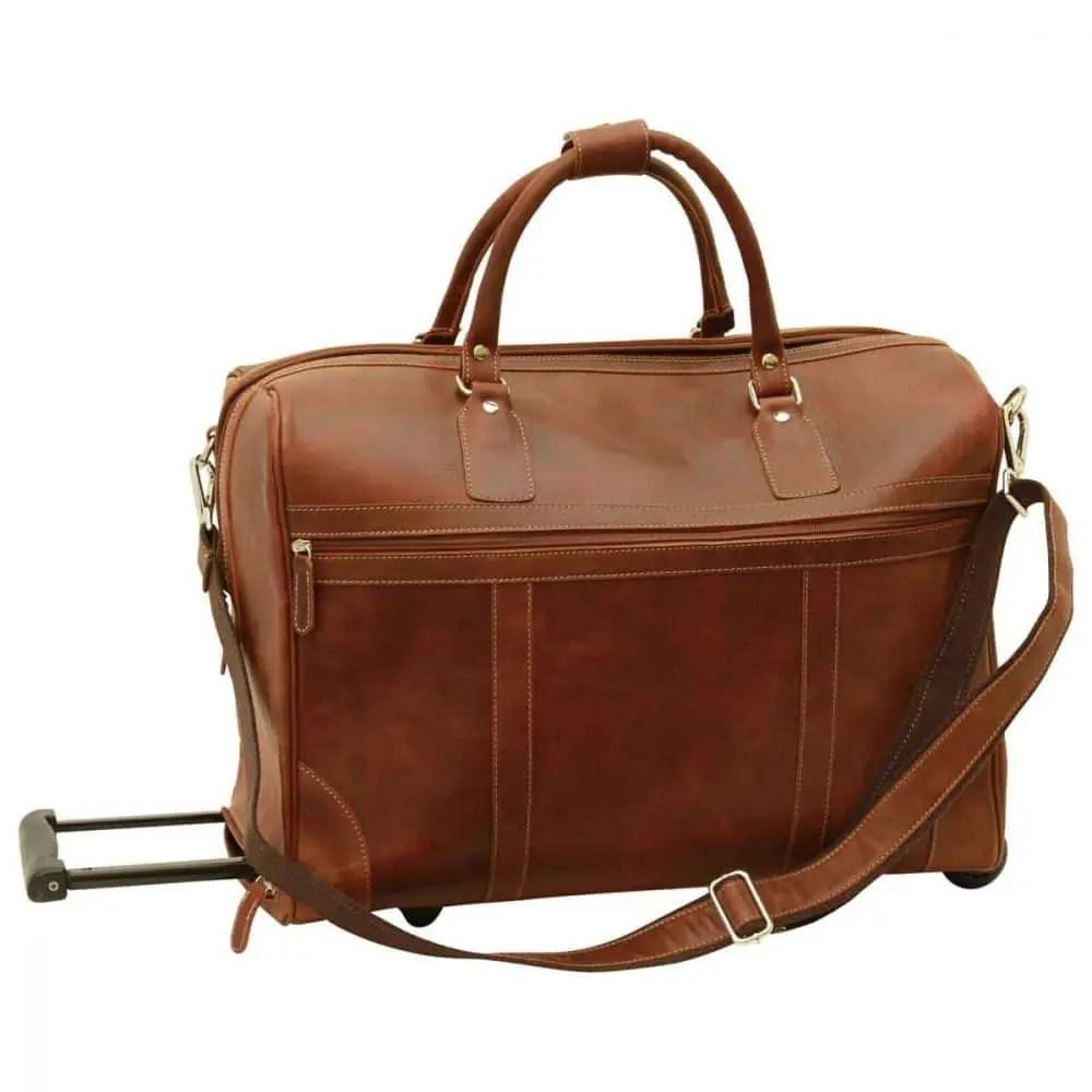 Duffle Bag geöltes Kalbsleder braun