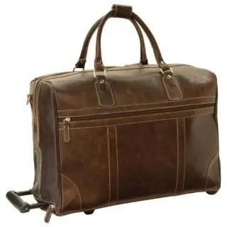 Duffle Bag geöltes Kalbsleder dunkelbraun