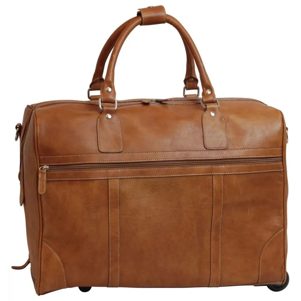 Duffle Bag geöltes Kalbsleder kolonial