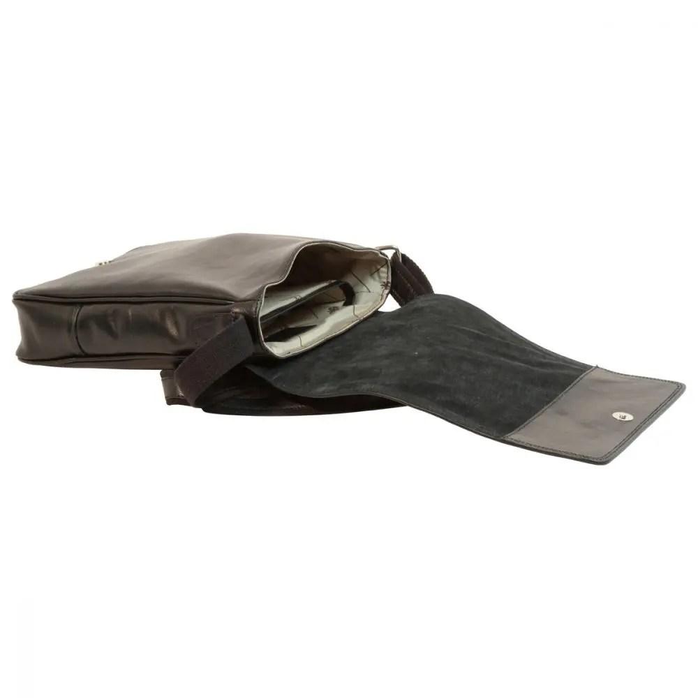 Liegend IPad Tasche aus Leder Schwarz
