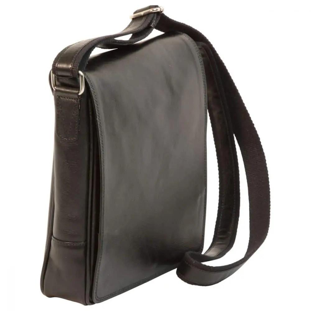 Quer IPad Tasche aus Leder Schwarz