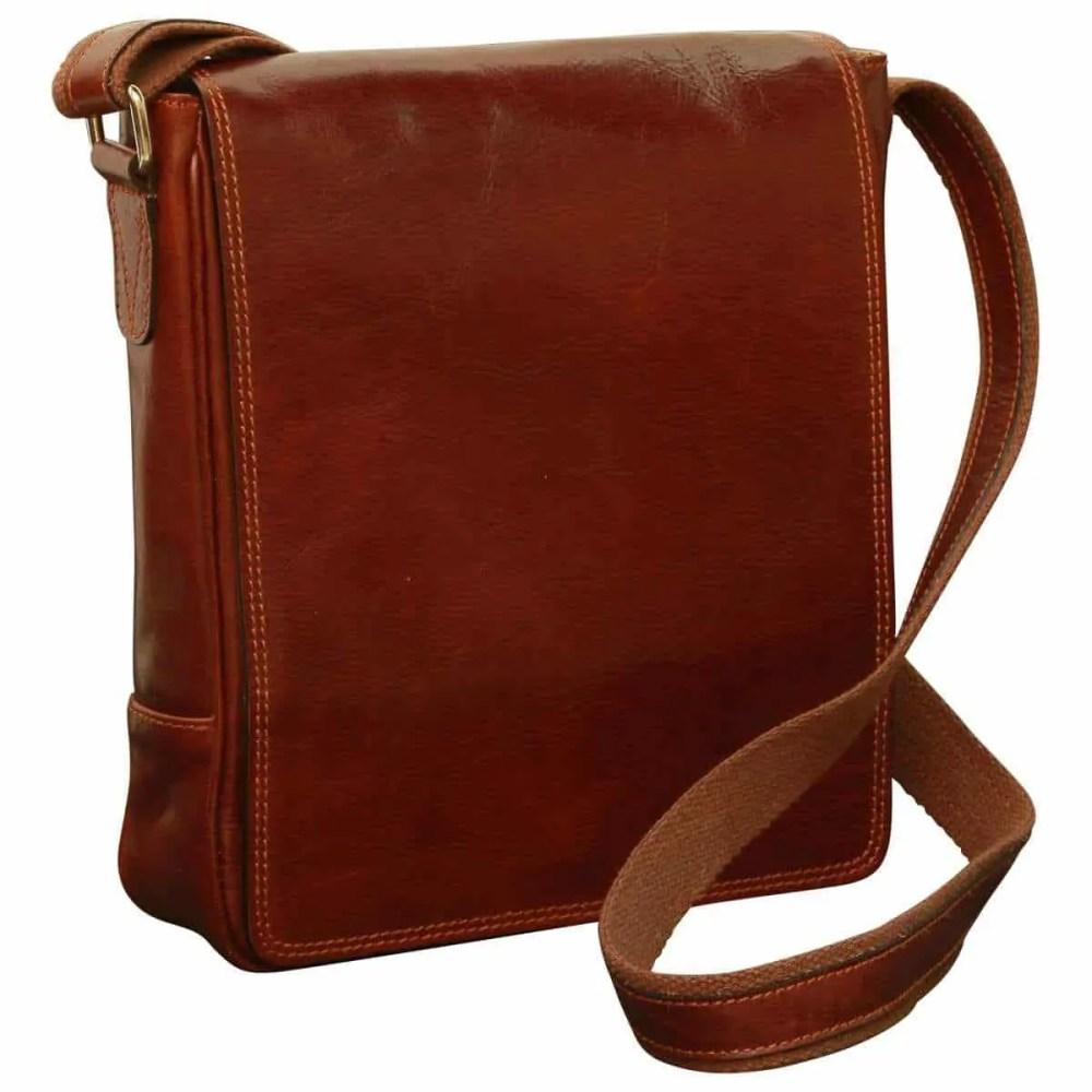 Front IPad Tasche aus Leder Braun