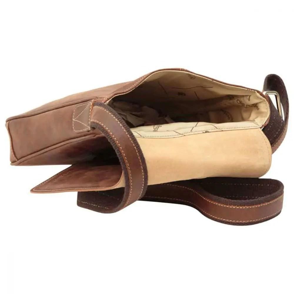 Liegende Satchel Bag Kastanie
