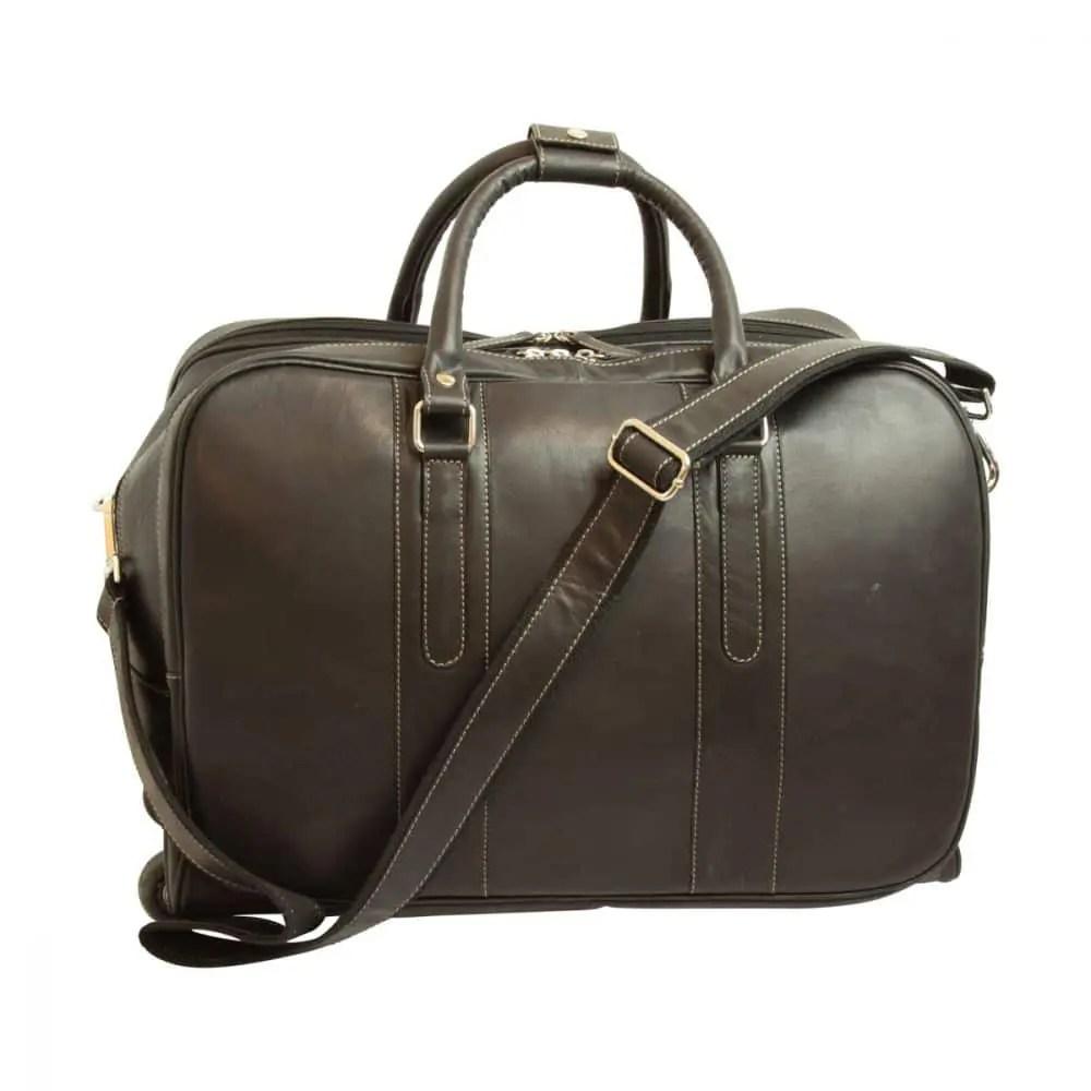 Front Reisetasche New World Collection Schwarz mit Gurt
