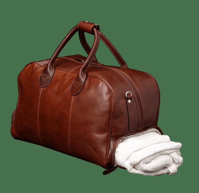 Seite Duffle Bag Golf Sport Braun