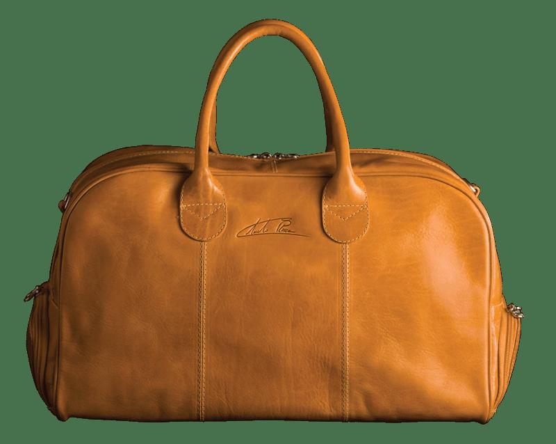 Frontansicht Duffle Bag Golf Sport Senf