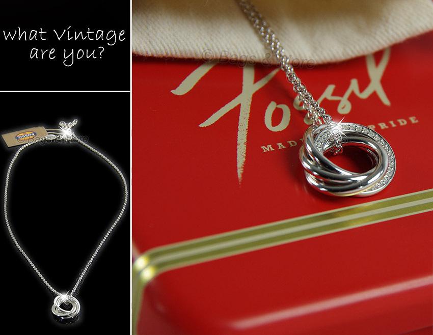FOSSIL Halskette MIRACLE Damen Kette Collier 925 Silber Zirkonia NEU JFS00013040  Bags  More