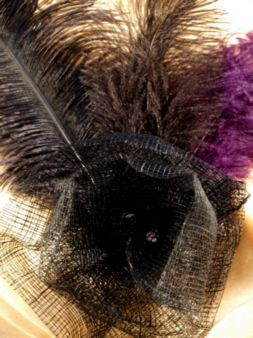 A statement fascinator