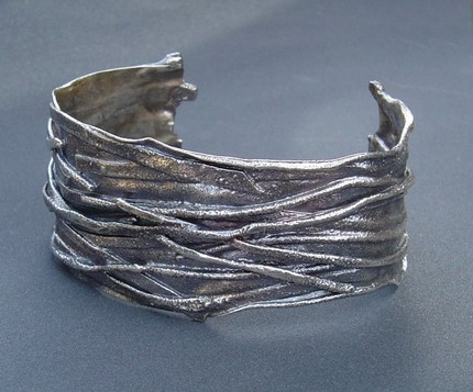 Fused Sterling Silver Cuff