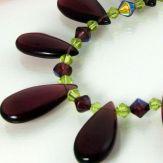 Royal purple teardrops
