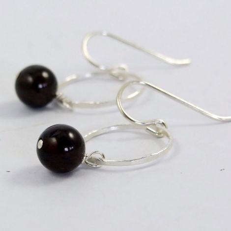 January birthday garnet earrings