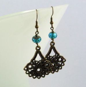Vintage Inspired Flower Earrings