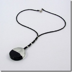 Black Foil Pendant Necklace_06
