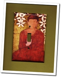Buddah Light Switch Cover by Turn Me On Art on Etsy