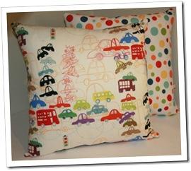 Traffic Jam Scatter Cushion by LittleStarDesign on Made It