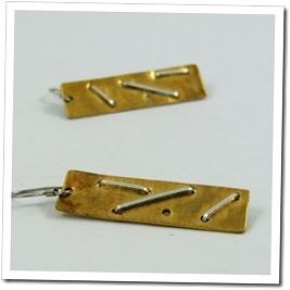 Hammered Brass Rectangle Earrings_06
