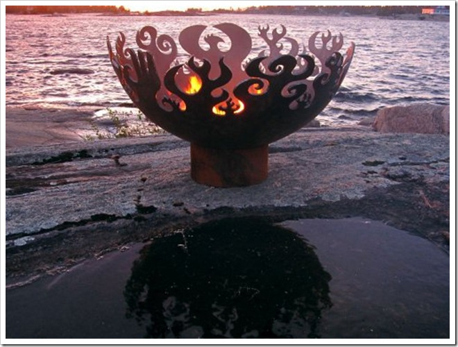 Recycled Steel Firepit by John T Unger