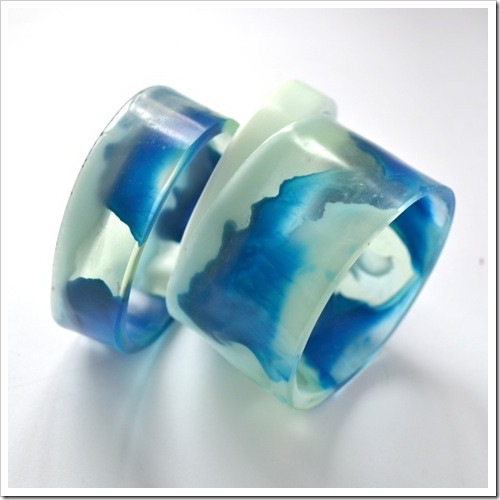 Ocean Swirl Resin Bangle