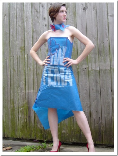 recycledFEMAbluetarpdress1