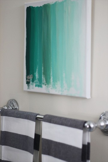 Ombre Art {DIY} at {Two Delighted}