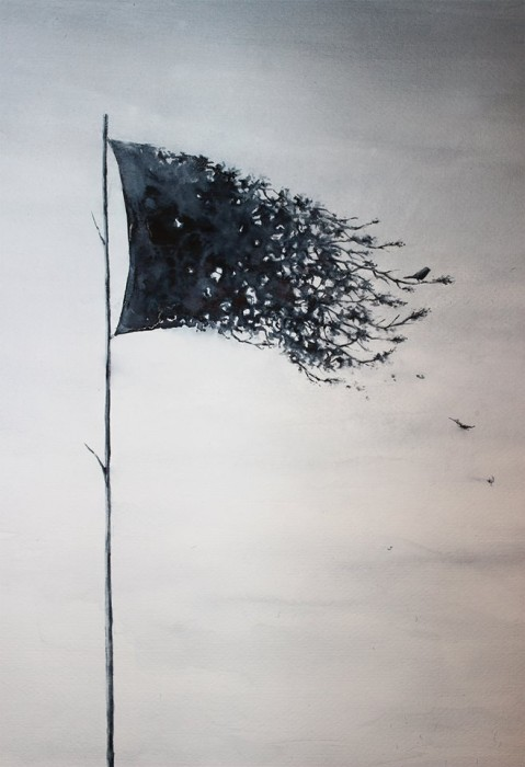 flag artwork by pejac