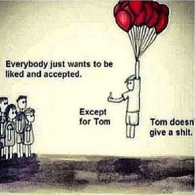 Tom *really* doesn't give a shit and neither do I.