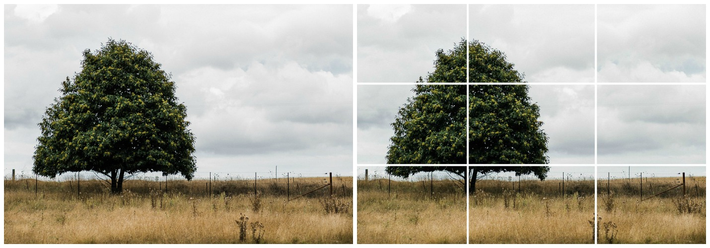 composition rule example - landscape rule of thirds