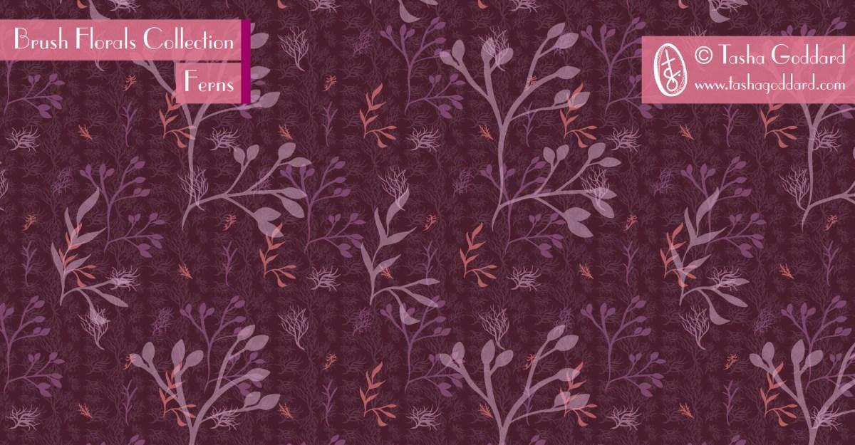 Brush Florals Collection: Ferns   © Tasha Goddard   www.tashagoddard.com