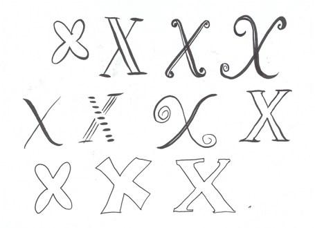 A Letter a Day: X © Tasha Goddard 2014 www.tashagoddard.com
