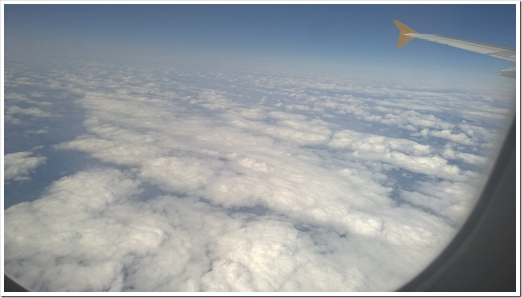 Clouds from the airplane window