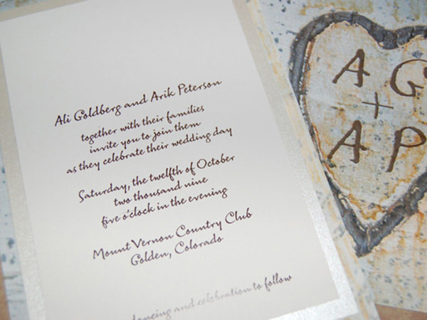 Picturesweetheart Tree Wedding Invitations
