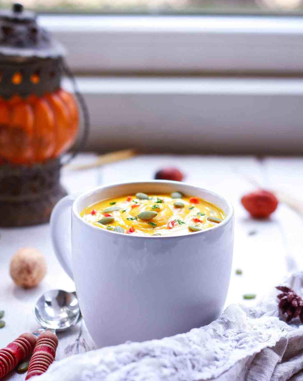 Roasted Pumpkin Soup vegan healthy recipe