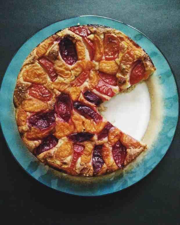 Plum & Apricot Cobbler Cake | Plum Recipes