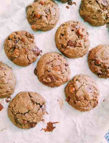 Glutenfree Chocolate Chip Cookies w/ Roasted Almonds