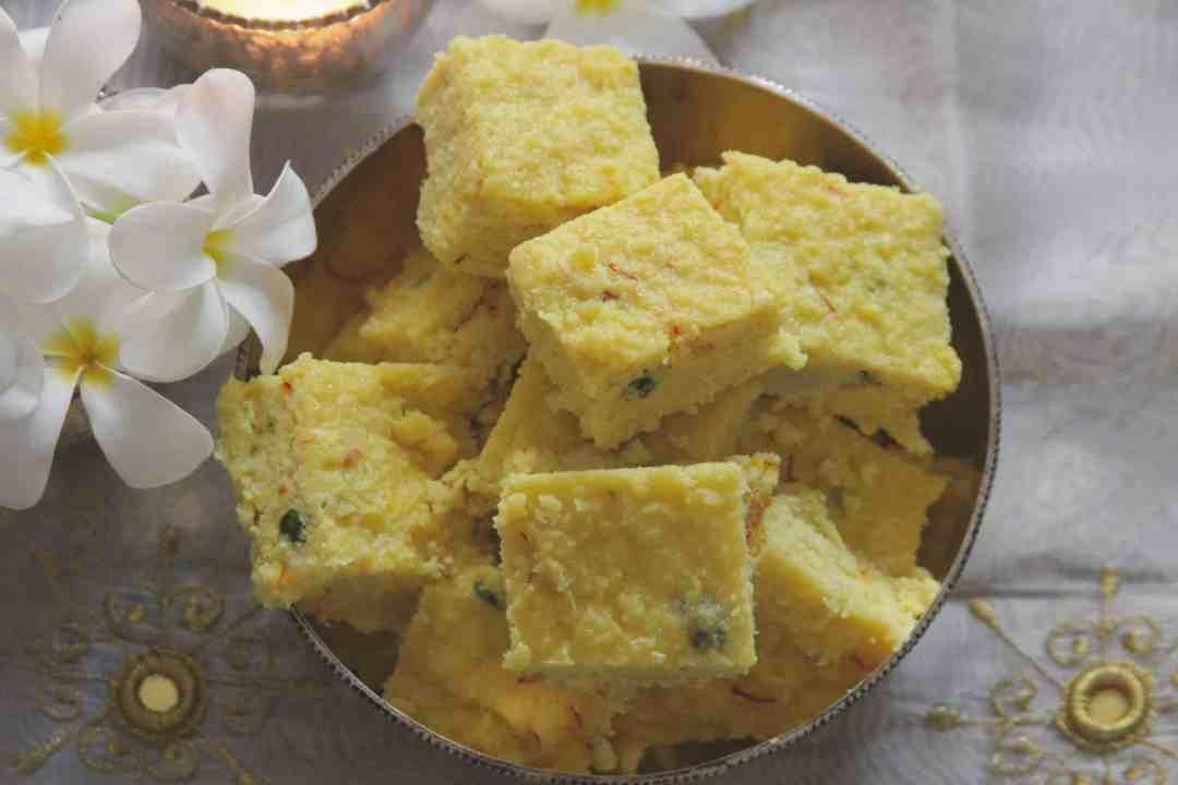 Coconut Saffron Burfi | 8 Indian Sweets Recipes For Diwali