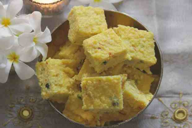 Coconut Saffron Burfi | 8 Indian Sweets Recipes For Diwali