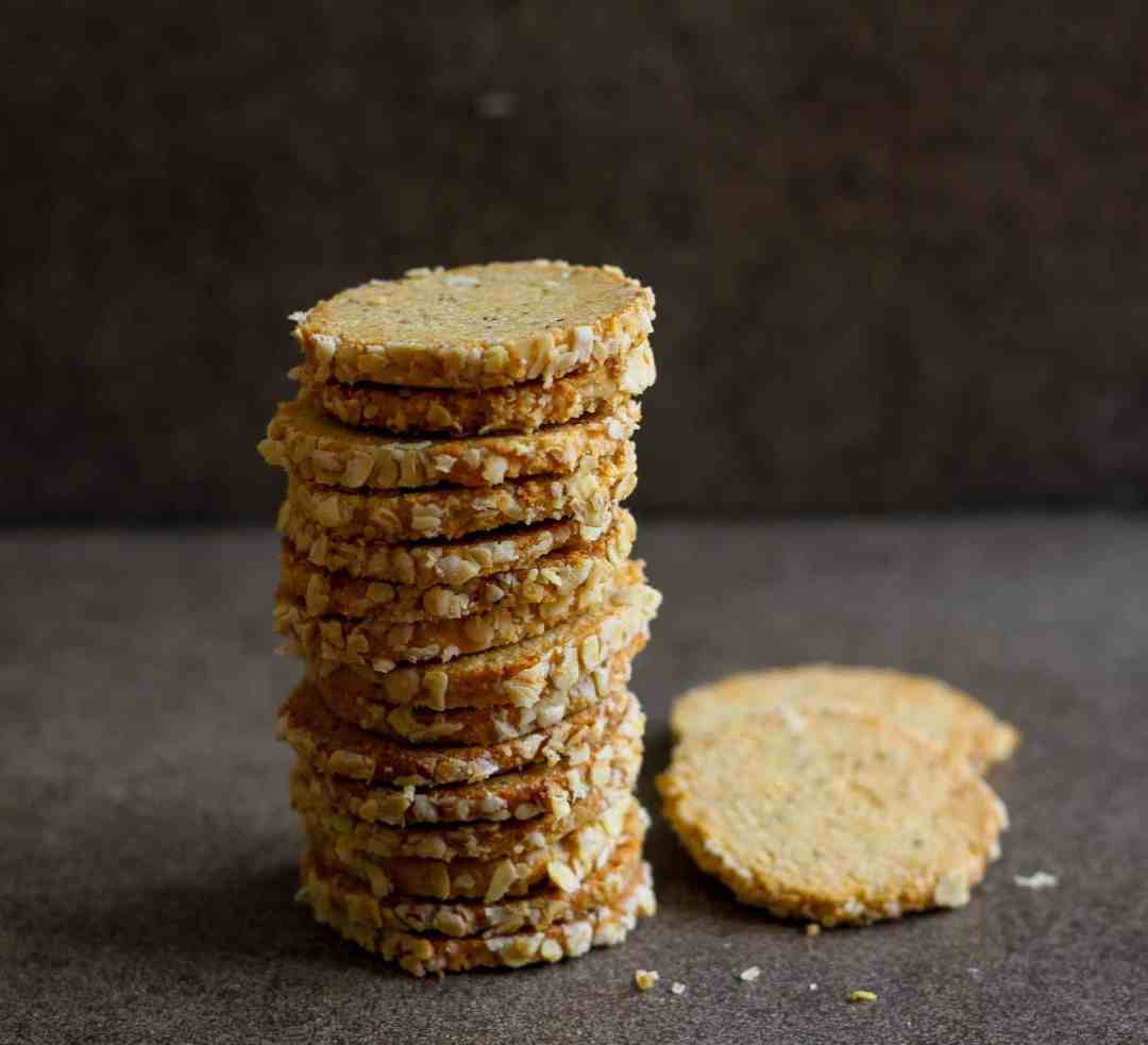 Homemade Wholegrain Ajwain Crackers (Carom seed Crackers)
