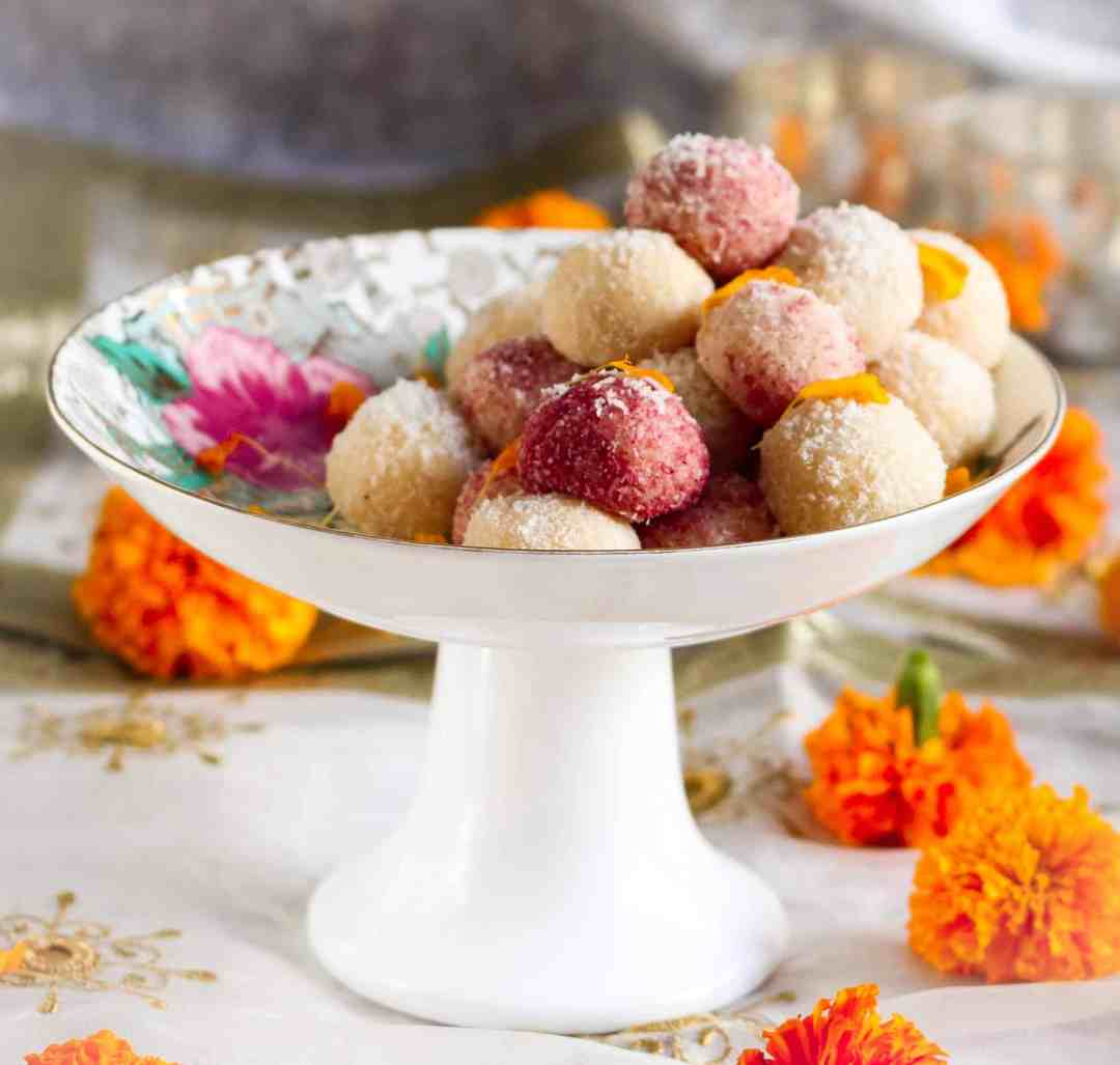 Easy Coconut Ladoo ( laddu) | 8 Indian Sweets Recipes For Diwali