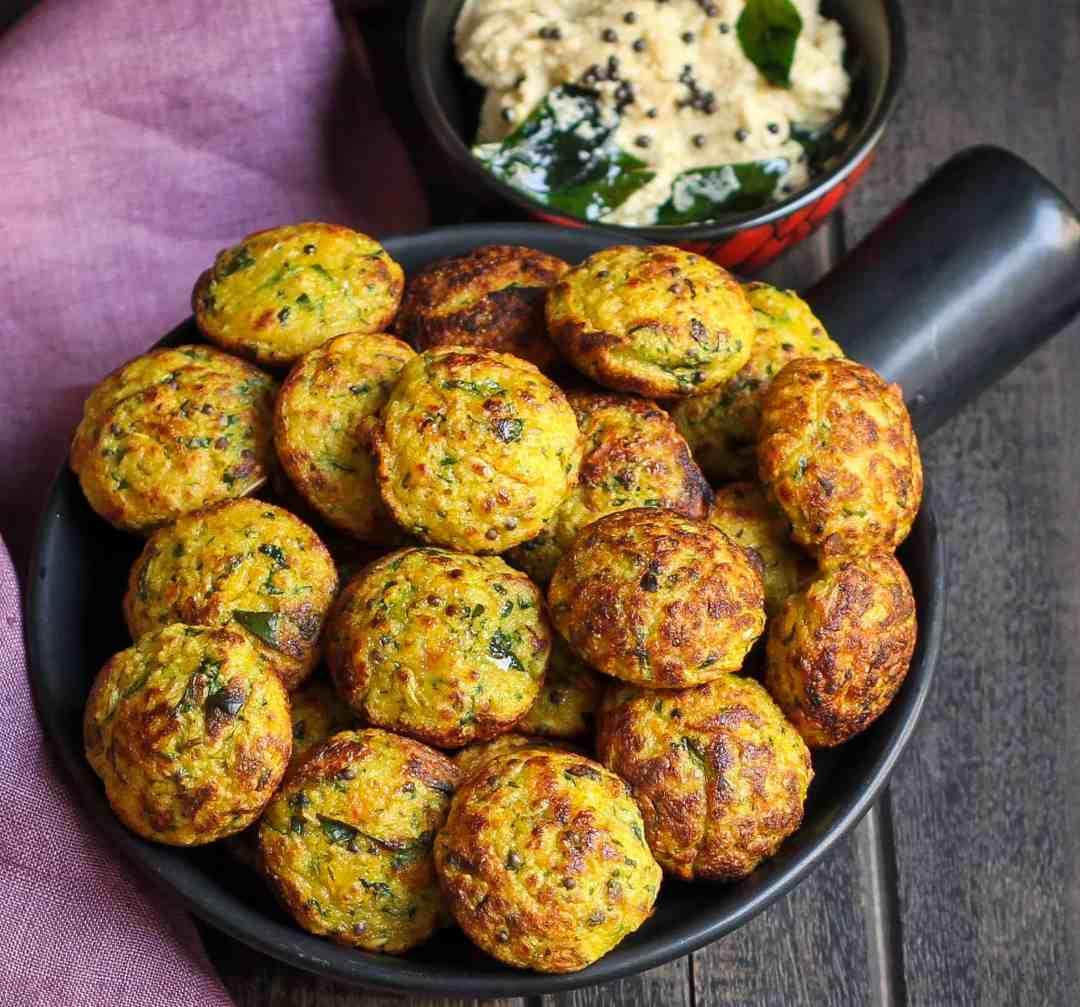 Instant Oats Vegetable Paniyaram vegetarian, easy recipe, healthy, seasonal , snack