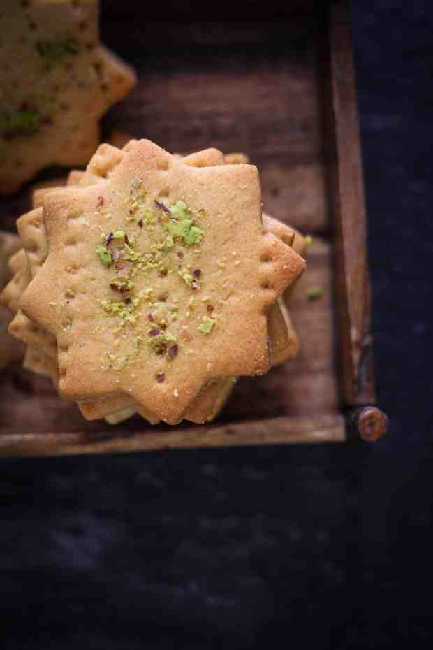 Atta Biscuits or Eggless Wholewheat Cookies vegetarian tea time snacks