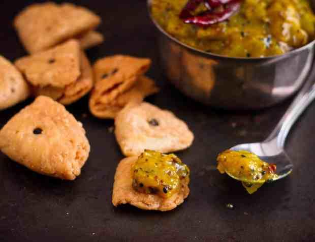 Aam Ki Launji / Raw Mango Chutney summer's favourite condiment! This palate tickling,sweet sour spicy vegan chutney is a breeze to make..