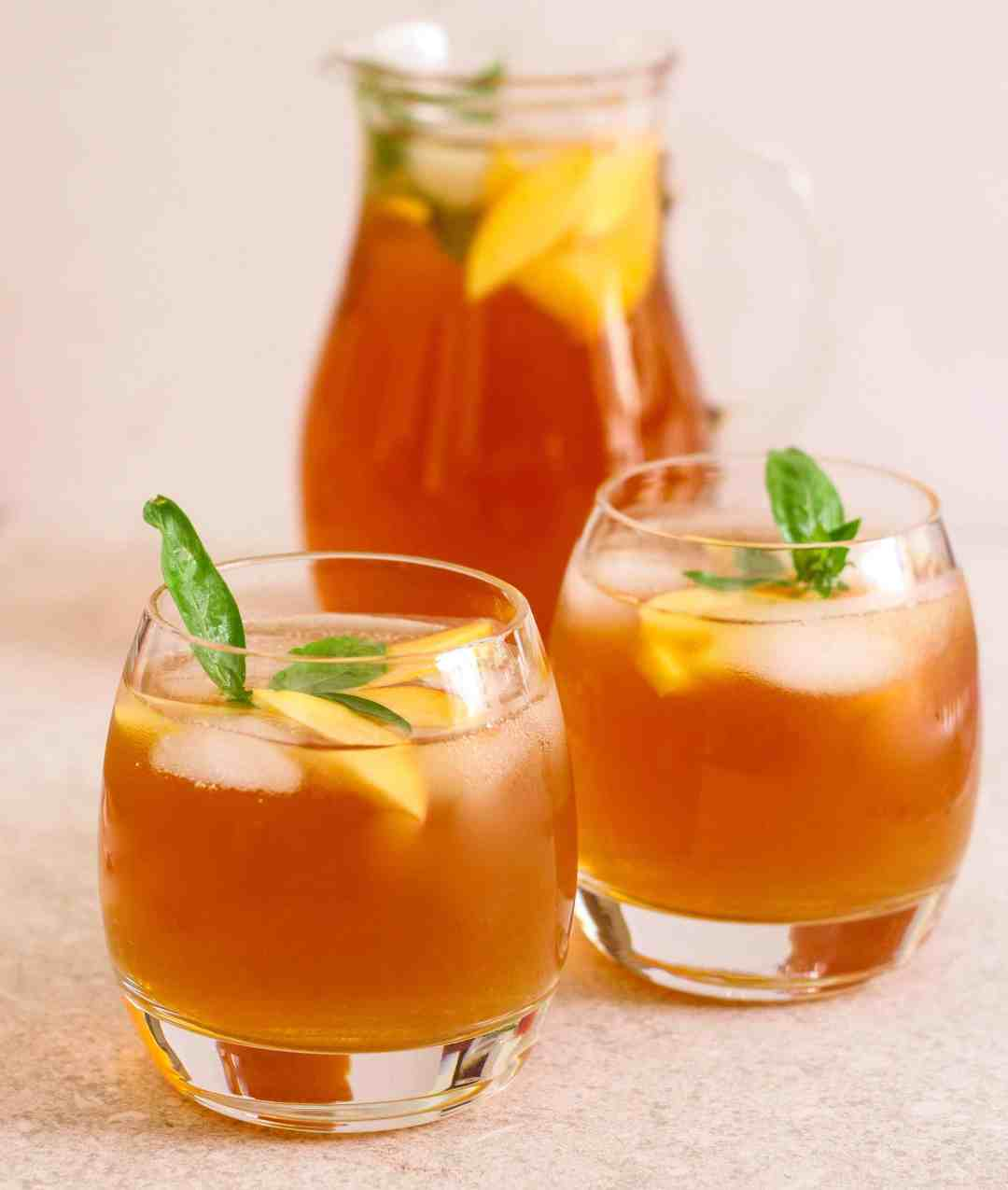 Peach Iced Tea cold brew summer drink fruits