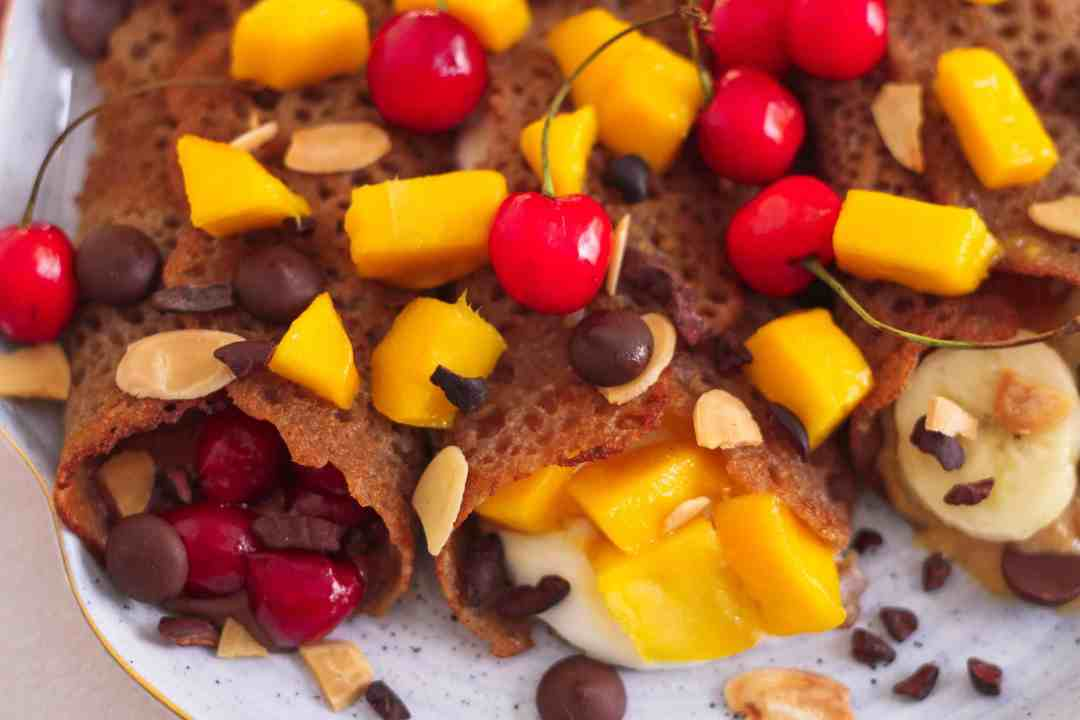 Easy Vegan Crepes dairyfree healthy breakfast easy recipe sweet