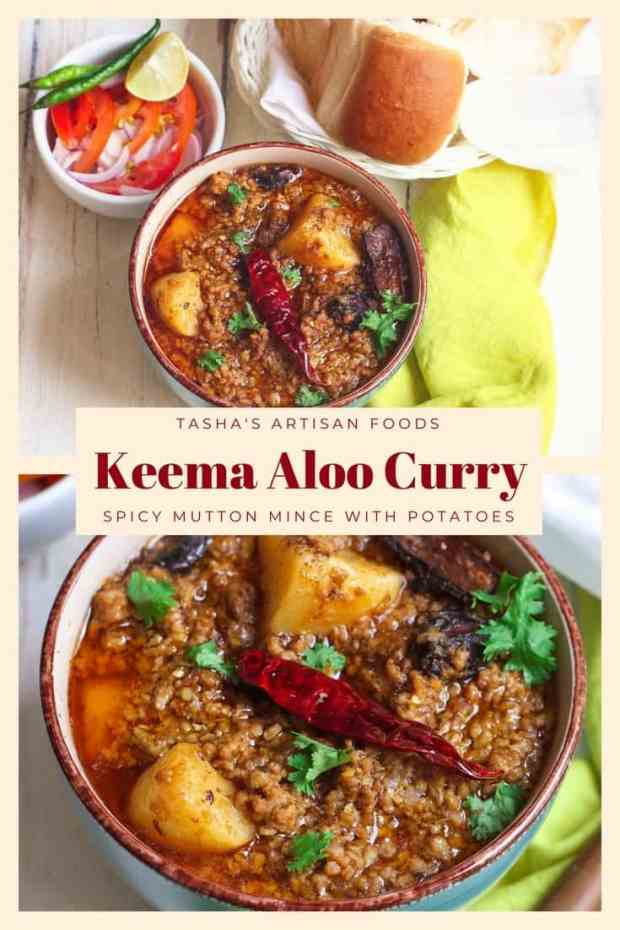 Keema Aloo Curry |Spicy Mutton Mince with potatoes