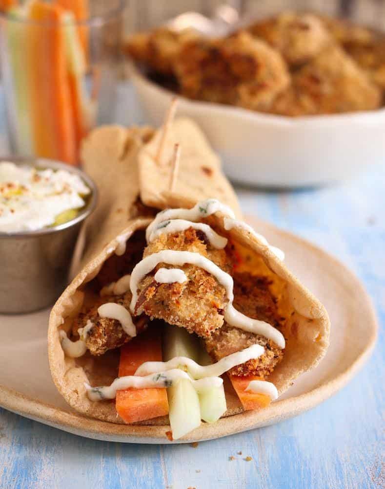 Crispy Baked Chicken Nuggets easy healthy Kid friendly recipe