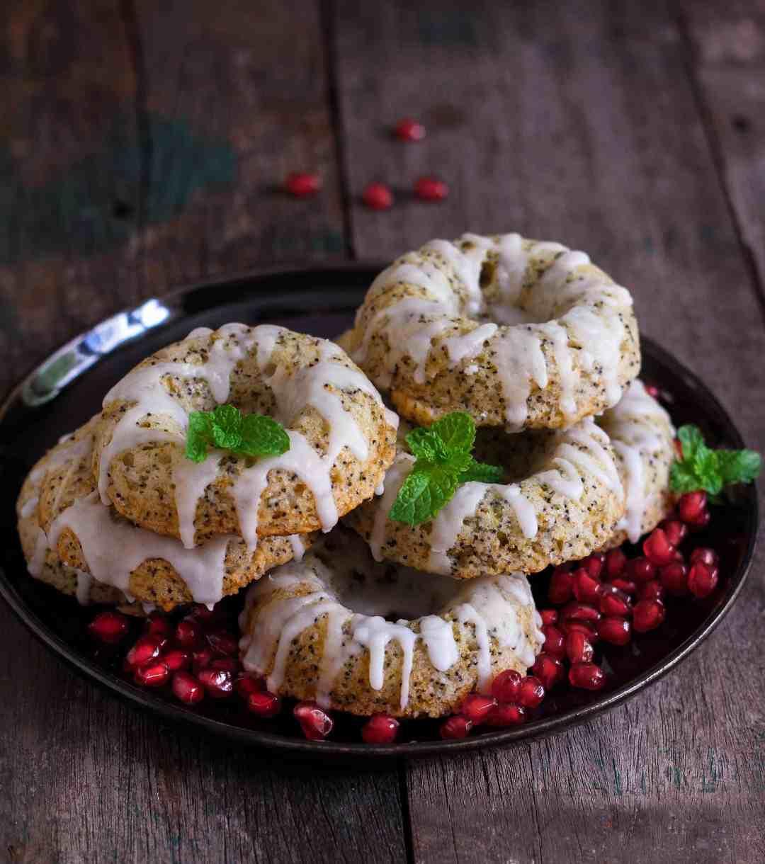 Lemon Poppyseed Baked Donuts easy wholegrain baking