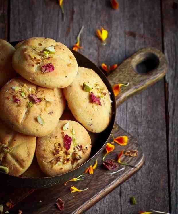 Nankhatai Indian Shortbread Cookies Eggless Cardamom Festive Foods