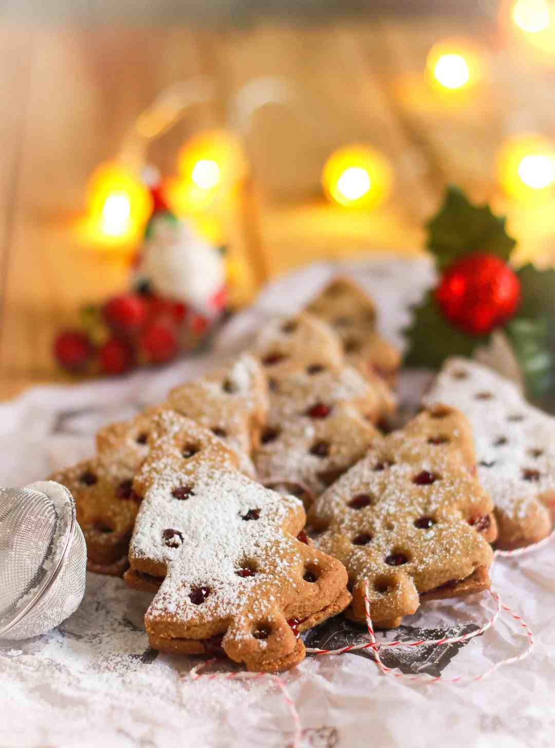 Lemon Buckwheat Linzer Cookies vegan glutenfree Christmas baking