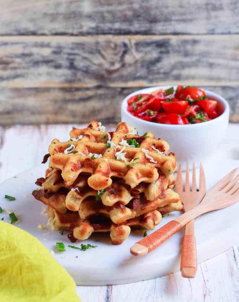 Easy Cheese Waffles savory healthy easy recipe